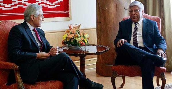 Este jueves Gaspar se reunió con el canciller Heraldo Muñoz y lo puso al tanto de las actividades que realizó durante su estadía en Bolivia