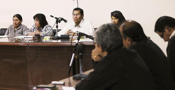 Los jueces, los abogados defensores, los fiscales y acusados fueron los protagonistas