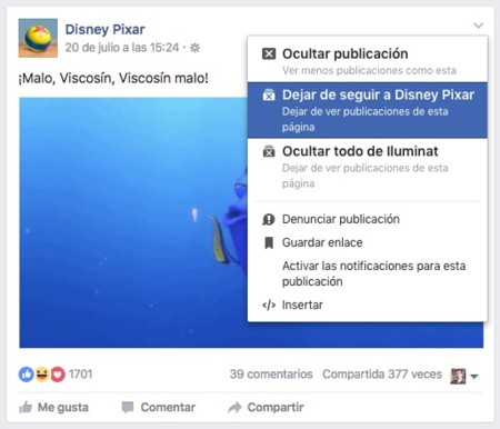 Facebook Ocultar Amigo