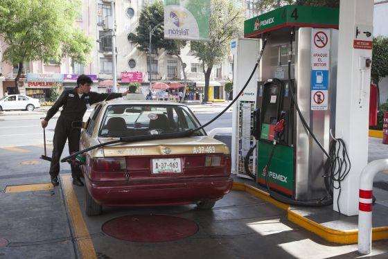 Una gasolinera en la Ciudad de México.