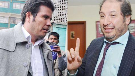 Los abogados Williams Sánchez y Wálter Zuleta