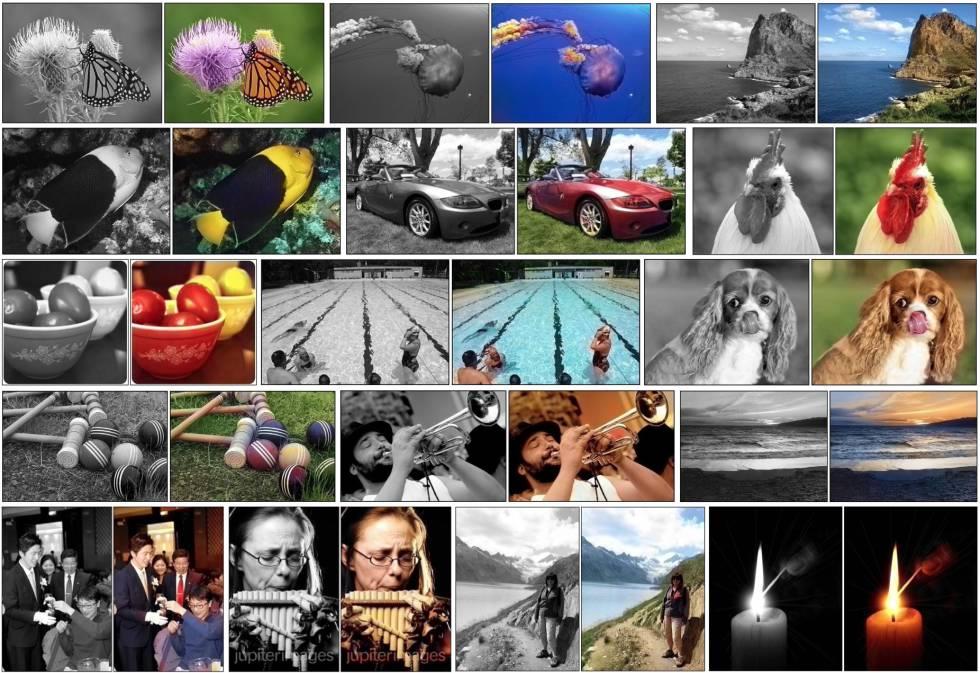 Fotografías coloreadas con el método Colorful Image Colorization.