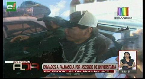 Envían a Palmasola a presuntos autores de crimen de universitaria
