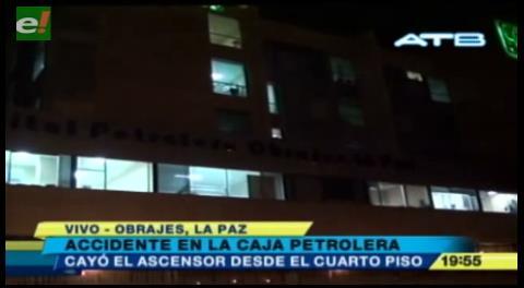 Cae ascensor en hospital de Caja Petrolera y deja 9 heridos
