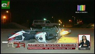 Joven pierde la vida en accidente de moto