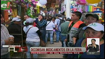 Decomisan medicamentos en la feria de Barrio Lindo