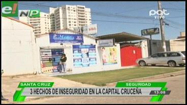 Inseguridad permanente en la capital cruceña