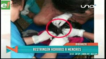 Dictan 'toque de queda' para menores en Riberalta/Beni