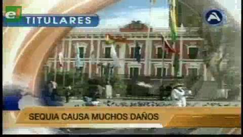 Titulares de TV: Presidente Morales y su gabinete dialogan con sectores productivos para garantizar la seguridad alimentaria