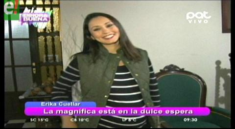 Erika Cuéllar con todo listo para la llegada de su primogénita