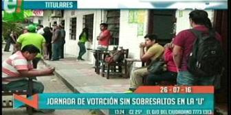 Titulares de TV: Jornada de votación sin sobresaltos en la Uagrm