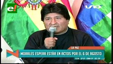 Morales anuncia que reaparecerá en actos de gestión el 2 de agosto