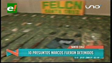 Santa Cruz: 10 detenidos por narcotráfico en diferentes operativos