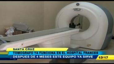 Arreglan el tomógrafo del Hospital Francés de Santa Cruz