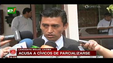 Uagrm: Cadima acusa a cívicos de parcializarse con otros candidatos