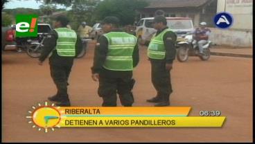 Detienen a 17 pandilleros en Riberalta