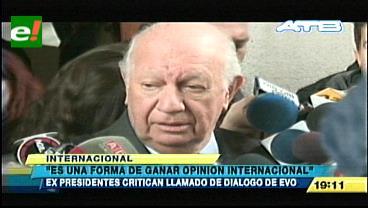 """Lagos califica de """"ridículo"""" llamado de Evo Morales a restablecer diálogo con Chile"""