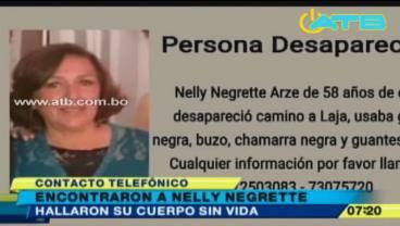Encuentran el cuerpo de la empresaria Nelly Negrete y detienen a tres personas en La Paz