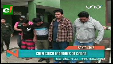 Felcc detiene a 8 supuestos asaltantes de casas, tres son peruanos