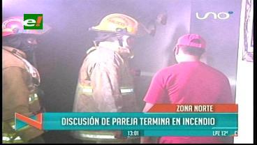Discusión de una pareja termina en incendio de una vivienda