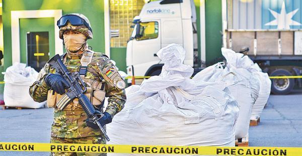La Academia Nacional de Policías, en La Paz, fue el escenario de la presentación.