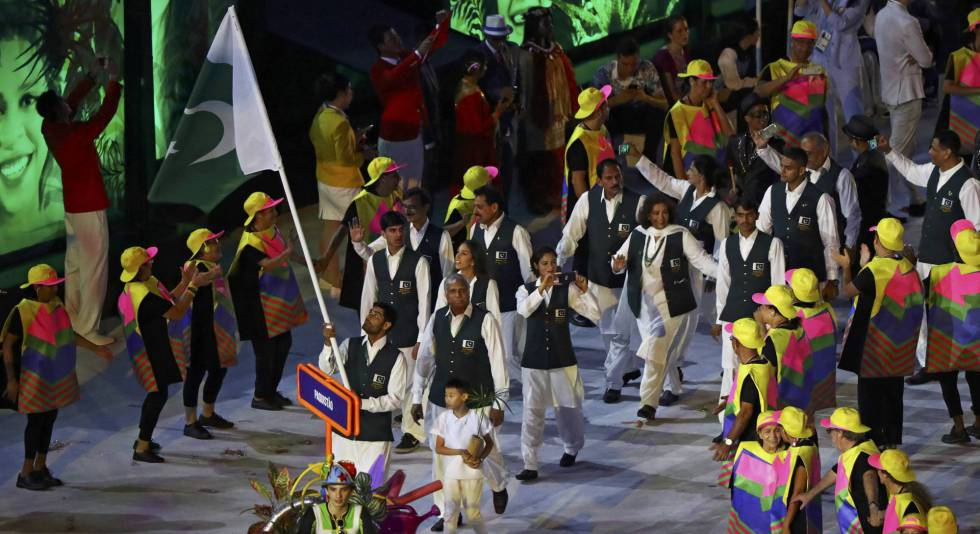 Delegación de Palestina en Maracaná.