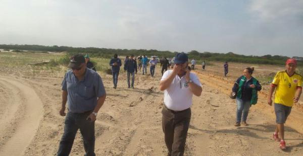 La comitiva del gobierno municipal guardieño está siendo acompañado por la Policía