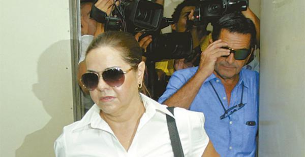 Érika Banzer en una audiencia judicial realizada en 2015