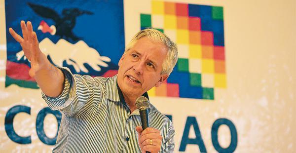 El vicepresidente García Linera habló ayer sobre los avances de la investigación de los papeles de Panamá