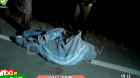El cuerpo del viceministro de Régimen Interior y Policía, Rodolfo Illanes, fue encontrado en la carretera La Paz-Oruro. Captura de Bolivia TV.