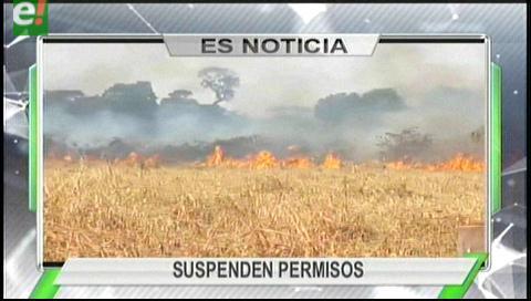 Titulares de TV: La ABT suspendió las autorizaciones para quemas en Santa Cruz por los incendios