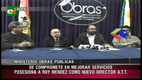 Posesionan a Roy Méndez como director de la ATT