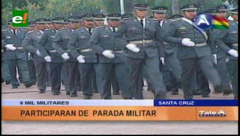 Más de 6 mil efectivos de FFAA participarán en la Parada Militar en Santa Cruz