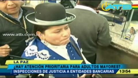 Ministra de Justicia inspeccionó entidades bancarias