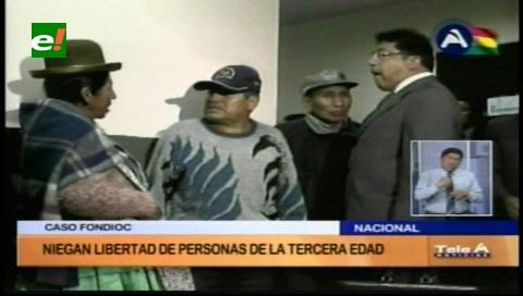 Caso Fondioc: Niegan libertad a dos personas de la tercera edad