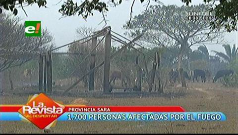Incendio en provincia Sara duró casi nueve horas, pobladores necesitan ayuda