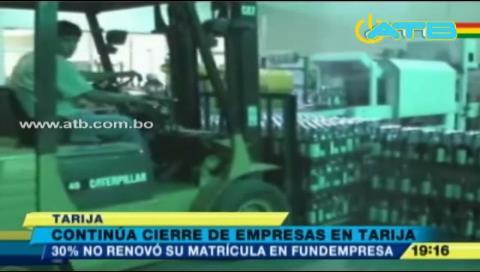 Crisis económica ocasiona cierre de empresas en Tarija