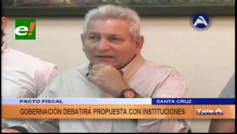 Rubén Costas convoca a la institucionalidad cruceña por el Pacto Fiscal