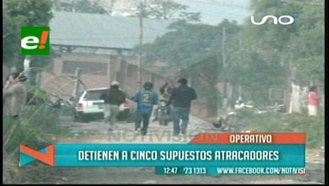 Felcc detiene a cinco supuestos atracadores en Santa Cruz
