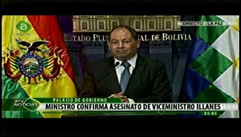 Viceministro Illanes fue cobarde y brutalmente asesinado, confirma el Gobierno boliviano