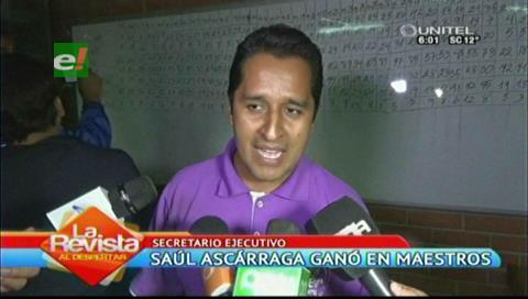 Ascárraga es el nuevo secretario ejecutivo del Magisterio Urbano de Santa Cruz
