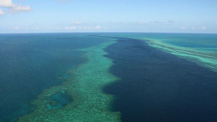 La Gran Barrera de Coral a vista de pájaro.