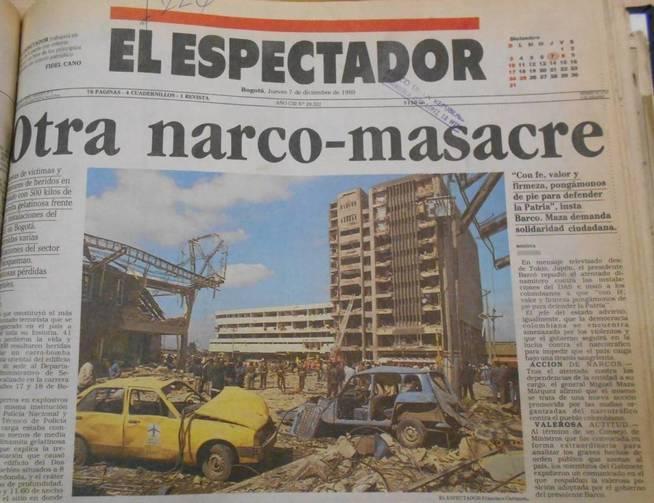 El atentado contra el DAS provocó 70 muertos y más de 700 heridos.