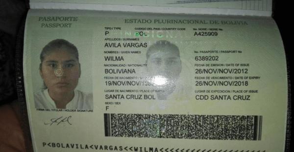 Este es el pasaporte de la mujer fallecida