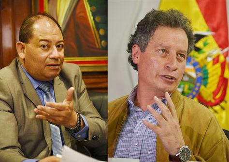 Los ministros Carlos Romero y César Navarro.