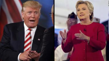 Donald Trump y Hillary Clinton durante el foro de NBC.