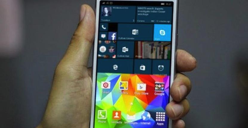 Samsung patenta un smartphone que corre Android y Windows de manera simultánea