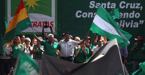 1.500 delegados participaron del congreso departamental para elegir a sus nuevas autoridades Rubén Costas ratificó que el objetivo de los demócratas es gobernar Bolivia en 2019