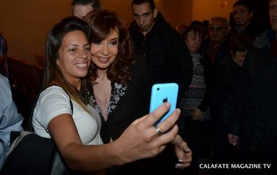 Cristina Kirchner vio el unipersonal de Dady Brieva en Calafate | Foto: Calafate Magazinetv