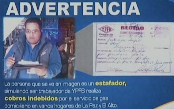 YPFB denuncia que un hombre se hace pasar por funcionario y cobra dinero por instalaciones